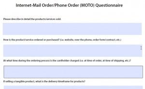 Internet MOTO Questionnaire
