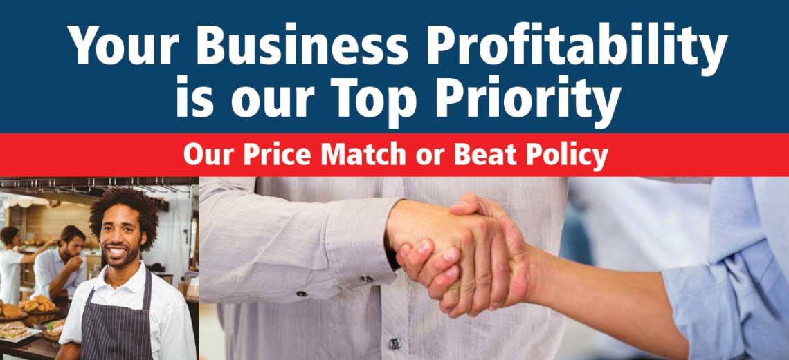 Merchant account price match or beat policy