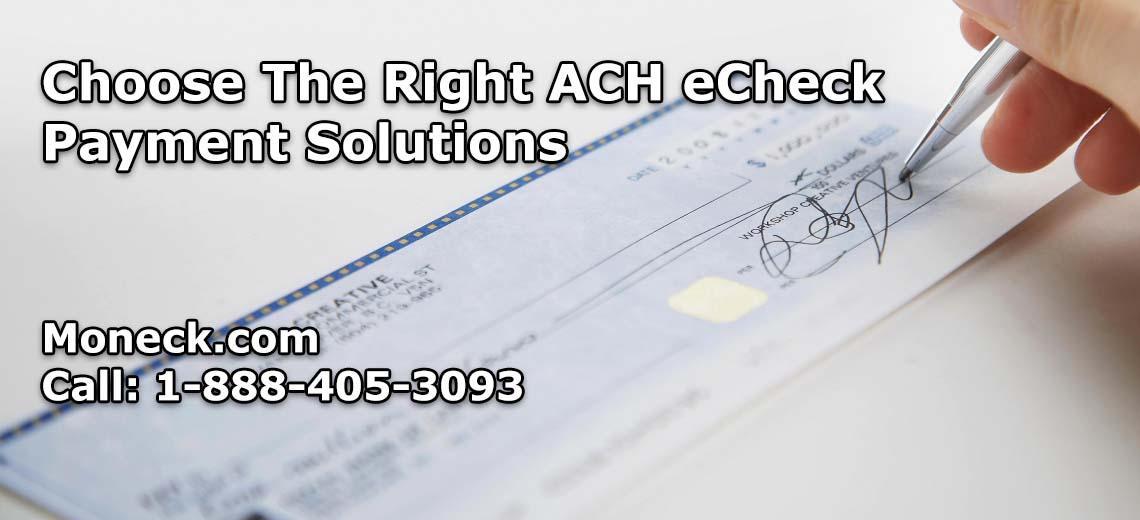 ACH eCheck Payment Solutions